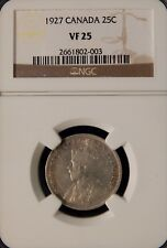 1927 CANADA 25 CENTS 25C GEORGE V NGC VF25 LOW MINTAGE SCARCE