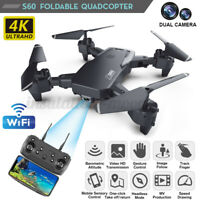 WIFI 1080P Dual Camera Altitude Hold S60 Foldable RC Drone Quadcopter With HD 4K