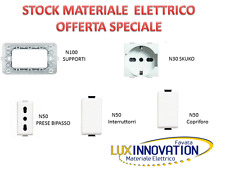 IMPIANTO ELETTRICO  STOCK MATERIALE ELETTRICO STOCK BTICINO MATIX  E COMPATIBILI