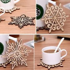 Coasters Carved Mug Pads Holder Drinks Cup Mat Coffee Tea Table Decoration