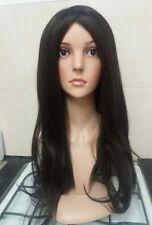 Black, Brown, Human hair wig, yaki feel long colour 4