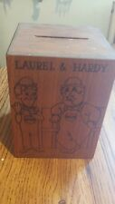 Vintage Laural And Hardy Musical Coin Bank!