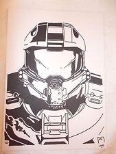 Marcador de tinta negra A4 Pluma de Dibujo Halo Master Chief