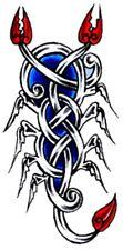 Tattoo style Celtic Scorpion design  iron on transfer