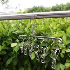 Metal Clothes Hanger Clips Laundry Hanging Dryer Socks Rack Holder Airer Useful