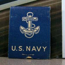 Vintage Matchbook G6 Circa 1940 Millitary United States Navy Anchor w Rope Desig
