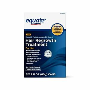 NEW Equate Mens Minoxidil 5% FOAM Hair Regrowth Treatment 6 MONTH EXP 06/2021