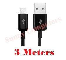 Micro-B USB Data Sync Charger Cable For Samsung Galaxy S3 i9100 i9300 Black 3M