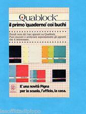 TOP985-PUBBLICITA'/ADVERTISING-1985- PIGNA QUABLOCK