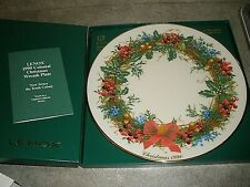 New Lenox Colonial Bouquet - 1990 New Jersey 10 Christmas Wreath Plate - In Box