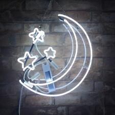 Moon & Stars Man Cave Hair Saloon Neon Sign Light Night Club Patio Canteen