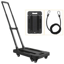 Folding Hand Truck Dolly Luggage Carts 440lbs Capacity Industrial/Travel/Shoppin