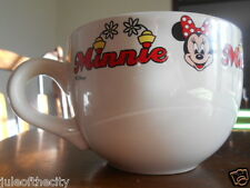 Minnie Mouse Collector Soup Mug 20 oz. Disney Stoneware White Red Black !