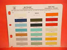 1959 1960 1961 DODGE PICKUP TRUCK SWEPTSIDE POWER WAGON PANEL VAN PAINT CHIPS