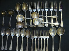Sterling Silver Flatware by elizabethan pattern basting mappin and web
