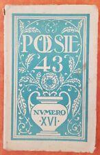 REVUE POÉSIE 43 N°16 OCT-NOV. 1943 JOUVE MARCENAC BERIMONT BAZAINE ROY, SEGHERS