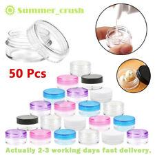 50Pcs 5ml Plastic Sample Bottle Containers Travel Portable Reusable Plastic Pot
