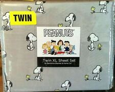 Peanuts Snoopy and Woodstock Berkshire Twin XL Extra Long Sheet Set