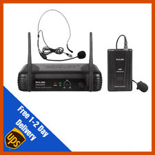 Pulse VHF Wireless Lavalier & Headset Microphone Mic System | DJ | PA | Fitness