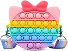 Pop Shoulder Bag Fidget Toy Rainbow Cute Cat Pop Fidget Bag Toy Gifts for Girls