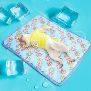 Pet Cooling Mat Non-Toxic Cooling Pad for Dog Puppy Cat Kitten S M L Portable