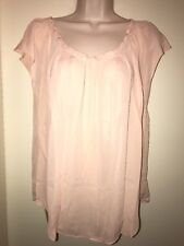"LC Lauren Conrad Women's Bow Pleated Sleeveless Top ""cameo Rose"" Size Large"