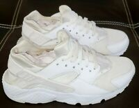 Nike Air Huarache Run 654275-110 Triple White Youth Size 5.5Y