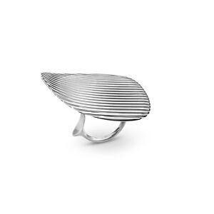 Georg Jensen Sterling Silver Ring II- #623B - LAMELLAE - ZAHA HADID