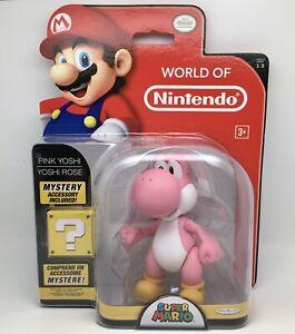 Figurine / Action Figure YOSHI Rose / Pink 11cm World Of Nintendo Officiel NEUF