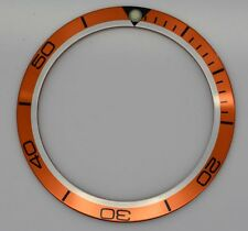 BEZEL INSERT FITS & FOR OMEGA PLANET OCEAN WATCH ORANGE BLACK PART DIAL PART