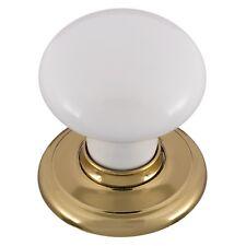 Gainsborough Small Warm White Bright Gold Classic Passage Door Knob