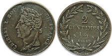 Charles X (1824-1830) - 2 centimes 1/2 - essai ETAIN Maz.897