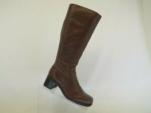 NATURALIZER Brown Leather Zip Knee High Fashion Boots Size 6 M