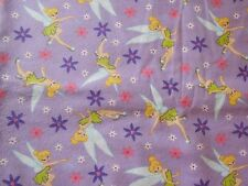 Tinker Bell on Cotton Flannel Material by the Yard