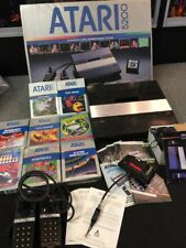Vintage MIB Atari 5200 Video Game Console And 8x Boxed Games