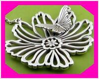 BRIGHTON ENCHANTED FLOWER Garden Butterfly Pendant NECKLACE NWtag $62