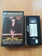 DER WOLF HETZT DIE MEUTE Clint Eastwood  - VHS KLASSIKER WERNER HOME VIDEO