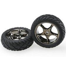 Traxxas TRA2479A Black-Chrome Tracer Wheels/Anaconda Tires Front Bandit VXL XL-5