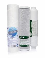SET OF 5 MICRON SEDIMENT•CARBON FILTER•INLINE•REVERSE OSMOSIS SYSTEM•REPLACEMENT