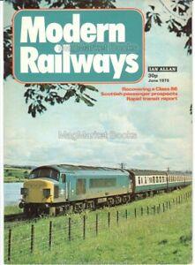 MODERN RAILWAYS MAGAZINE June 1975 TRAINS