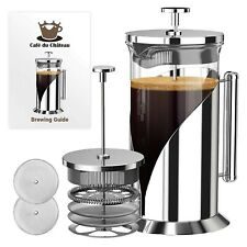 8 Cup Coffee Maker French Press 34 Oz Heat Resistant Borosilicate Glass Bpa Free