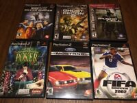 PS2 Game Lot Sale - 6 games including Splinter Cell, Ghost Recon 2 and more