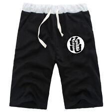 Anime DragonBall Z Cotton Casual Short Pants Pockets Shorts Elastic Trousers NEW