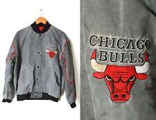 Vtg Starter Acid Wash Sz Large Chicago Bulls NBA Jacket Stone Gray Basketball