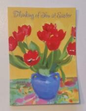 THINKING OF YOU AT EASTER message cards with envelope Hallmark new