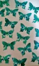 30 Peacock Feather Edible Butterflies Butterfly Cupcake Toppers PRE-CUT