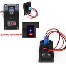 Car 12V Van Marine LED Voltmeter Dual Battery Test Panel Rocker Switch ON-OFF-ON
