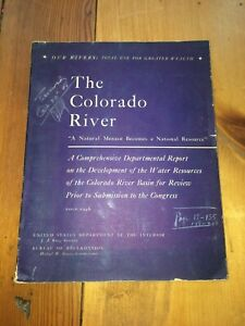 The Colorado River Water Resources 1946 Book of Charts, Maps ~ Dept of Interior