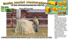 CANVAS COVERED MACHINERY/FLATCAR Load- Scale Model Masterpieces/Yorke HOn3/HOn30