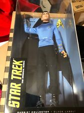 "SPOCK 12"" FIGURE STAR TREK 50th ANNIVERSARY BLACK LABEL BARBIE MATTEL NIB- RARE"